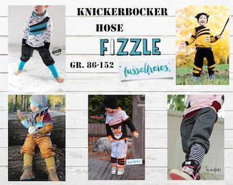 eBook Kids Pants / Knickerbocker FIZZLE Sewing Pattern Unisex Size 86 - 152 for self-printing Lint-Free
