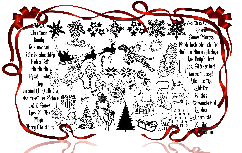 Plotterdatei Kombi-Serie Winter und Weihnachten Fusselfreies   Etsy