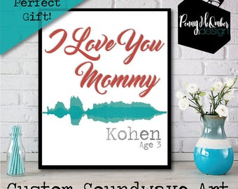Custom Soundwave Art Print File, Birthday Gift, Anniversary Gift, Wedding Gift, Father's Day Gift, Mother's Day Gift, Grandparents Gift