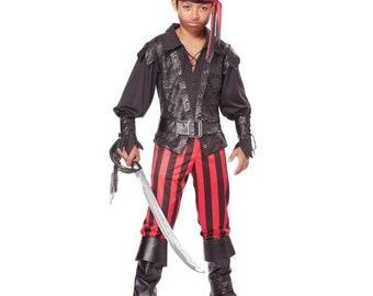 Briny Buccaneer Pirate Child's Costume - Boy's