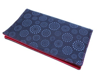checkbook blue and pink fabric, checkbook, woman, protects checkbook