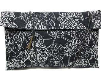 fabric tobacco leaf original black and white