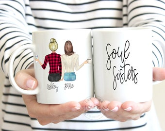 Best Friend Gift For Her Personalized Sister Friends Mug