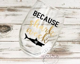 Shark Wine Glass Etsy