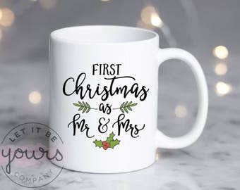 Our First Christmas As Mr And Mrs, Couples Christmas Gift, Wedding Gift, Newlywed Christmas Gift, Our First Christmas Mug, First Christmas