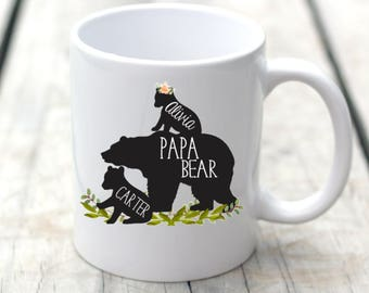 Papa Bear, Papa Bear Mug, Baby Bear, Bear with Cubs Mug, New Parent Gift, Dad Mug, Coffee Mug, Father's Day Mug, Dad Coffee Mug, Custom Mug