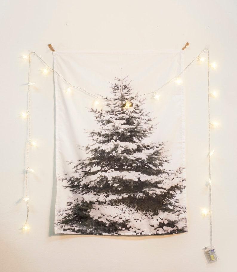 Stella Di Natale Luce.Vendita 20 Insieme Della Luce Stella Di Natale Decor Neve Albero Arazzo Attaccatura Di Parete Di Tessuto Poster
