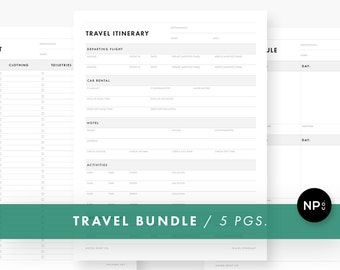 Vacation Planner Template Travel Itinerary Planner Etsy