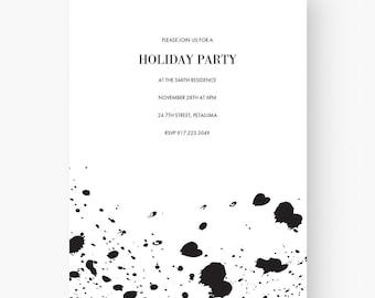Modern Invitation Download Template Ideas Black And White Engagement Party Birthday