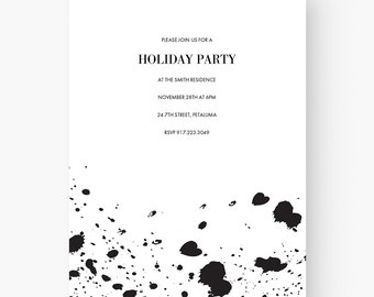 modern invitation etsy