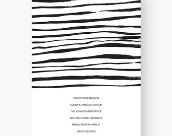 modern invitation download modern invitation template etsy