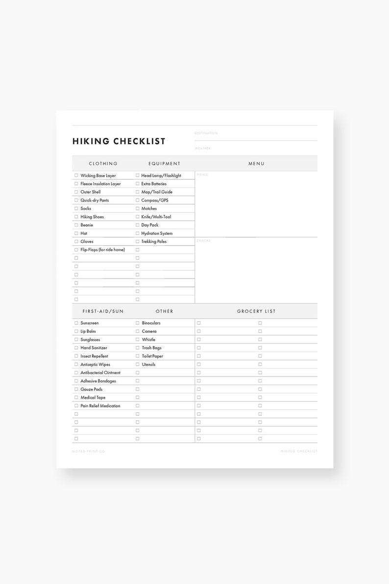 Hiking Planner Bundle, Printable PDF - Trail Guide, Packing List, Hike Log,  Hiking Journal - Travel, Backpacking - Hiking Gear