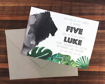 Printable King of the Jungle Birthday Invitation