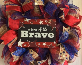 Patriotic Wreaths, 4th of July Wreath,Fourth of July Wreath,Home Wreath,Memorial Day Wreath