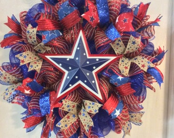 Patriotic Wreaths ,4th of July Wreath,Fourth of July Wreath,Home Wreath,Memorial Day Wreath