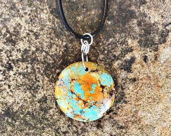 Crushed Orange Stone Necklace
