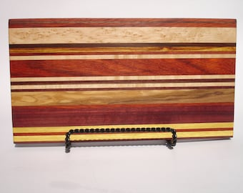 Exotic hardwood cutting board