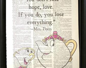 Mrs Potts Quote Etsy