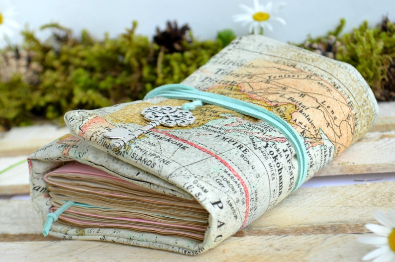 Map journal Travel journal Diary Writing journal Blank book image 0