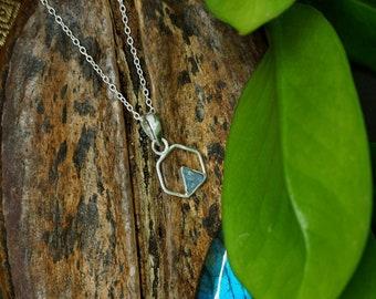 TRIANGLE Labradorite Sterling Silver 925 Pendant
