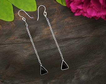 APONI Black Onyx Sterling Silver 925 Earrings