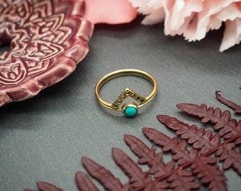 ELAN Turquoise Brass Ring