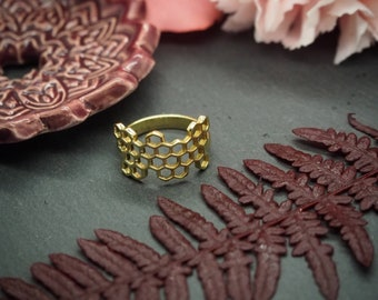 Honeycomb Brass Ring