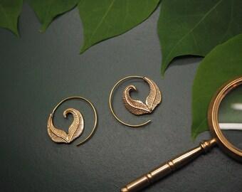 SAPATA Tribal Brass Earrings