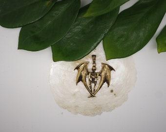 SKELETON Brass Pendant