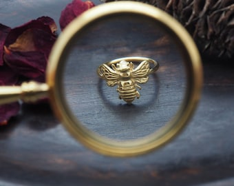 BEE Sterling Silver 925 18ct Gold Plated Ring