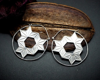 LUYA TRIBAL Silver Plated Earrings