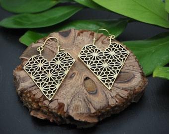 Geometrische Ohrringe Messing