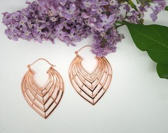 LINES Copper Earrings