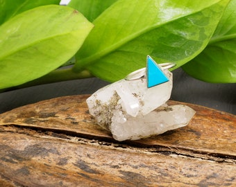 TRIANGLE Turquoise Sterling Silver 925 Ring
