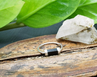 SATINKA Onyx Sterling Silver 925 Ring