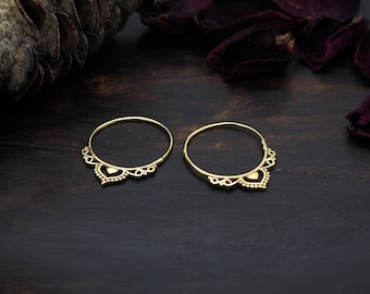 ZIHNA  Tribal Brass Earrings