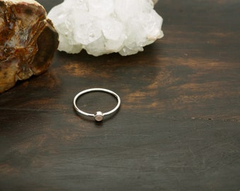 ANGENI Rose Quartz Sterling Silver 925 Ring