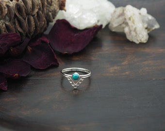 ADSILA Turquoise Sterling Silver 925 Ring