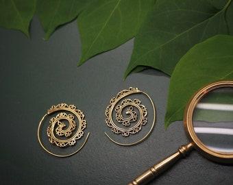 AMA Tribal Brass Earrings