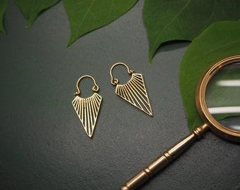 MELI Tribal Brass Earrings