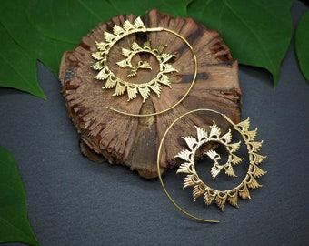 YENGNE Tribal Brass Earrings