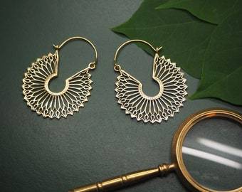 UNA Tribal Brass Earrings