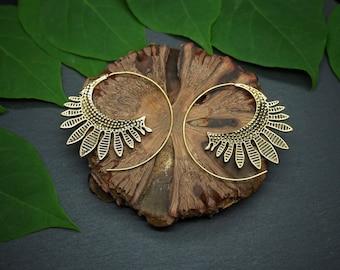NATI Tribal Brass Earrings