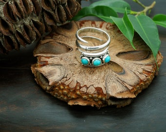 YAMKA Turquoise Sterling Silver 925 Ring