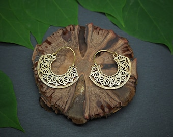 HALONA Tribal Brass Earrings
