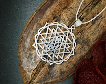 SRI YANTRA Silver Plated Pendant
