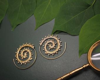 DAKODA Tribal Brass Earrings