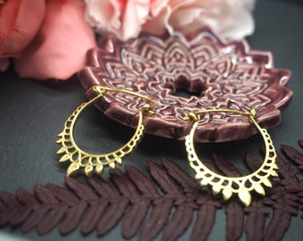 CHIPPEWA Brass Hoop Earrings