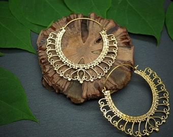 LOMASI Tribal Brass Earrings