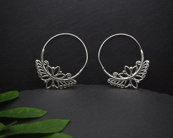 LOTUS Silver Plated Earrings